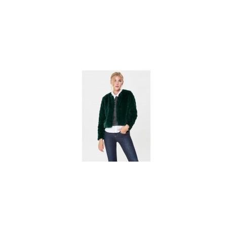 JACQUELİNE 15161001 de Yong suni kürk ceket yeşil