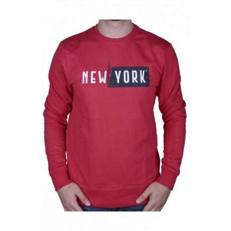 Cazador Erkek Kırmızı Bisiklet Yaka Sweatshirt 20KCEEO05072